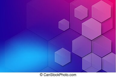 Abstract colorful hexagons background. Technology futuristic