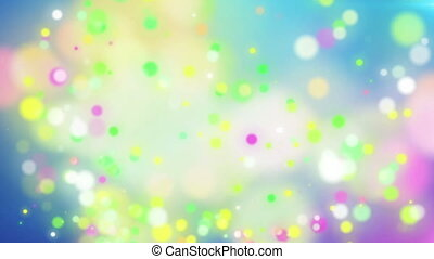 """Abstract Colorful Holiday particles background."""