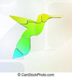 Abstract colorful hummingbird