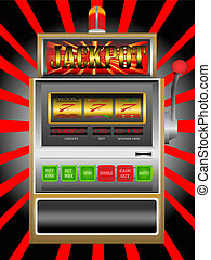 slot machine - Abstract colorful illustration with casino...