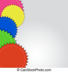 Abstract colorful labels vector background with copy space.