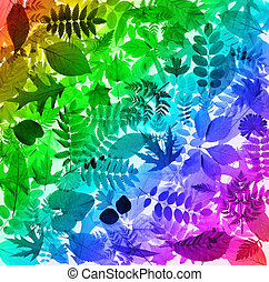 Abstract colorful leaves background