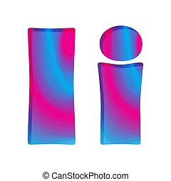 Abstract colorful letter I. Vector illustration.