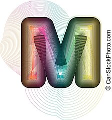Abstract colorful Letter M