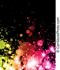 abstract colorful light in vibrant exciting shades