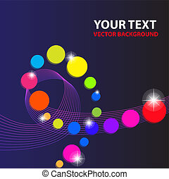 Abstract colorful line vector