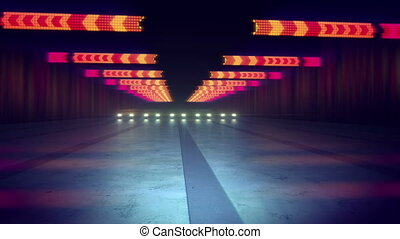 """""""Abstract Colorful Lines and Spots in Tunnel"""""""