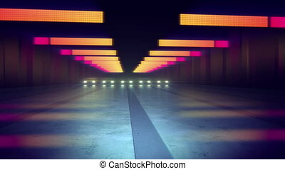 """Abstract Colorful Lines of Underground Tunnel"" - ""An arty..."