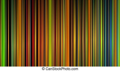 Abstract colorful lines moving on black, HD 1080p
