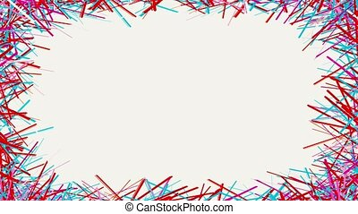 Abstract colorful lines on white background