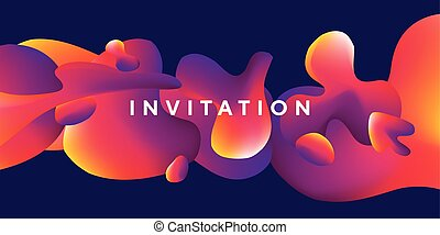 Abstract colorful liquid vector pattern.
