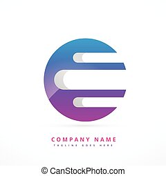 abstract colorful logo art template design
