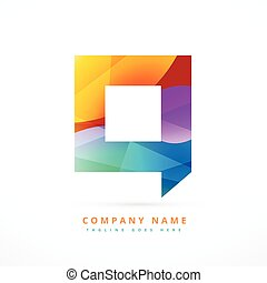 abstract colorful logo chat symbol design