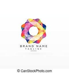 abstract colorful logo design concept