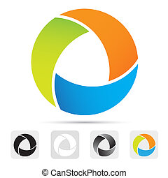 Abstract colorful logo, design element.