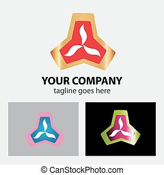 Abstract colorful logo triangle