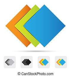 Abstract colorful logo,design element.