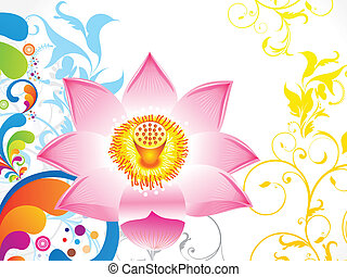 abstract colorful lotus flower