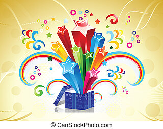 abstract colorful magic box vector