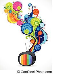 abstract colorful magical tv