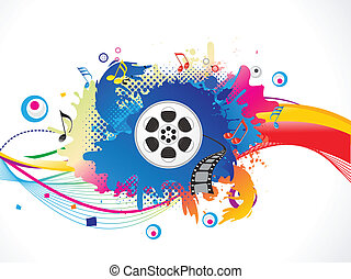 abstract colorful media explode vector illustration