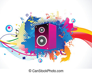 abstract colorful media explode