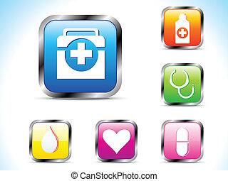 abstract colorful medical icon