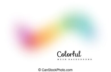 Abstract colorful mesh background. Vector illustration