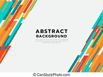 Abstract colorful modern design geometric design with space for your text