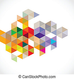 Abstract colorful modern polygon template, vector...