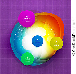 Abstract colorful modern steps template