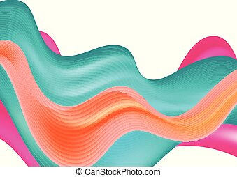 Abstract colorful modern waves background