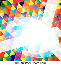 Abstract colorful mosaic background with sample for text. Vector Illustration