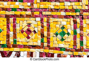 Abstract colorful mosaic texture as a creative background