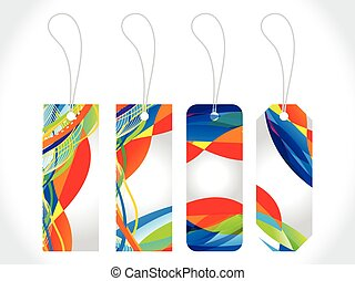 abstract colorful multiple sale tag