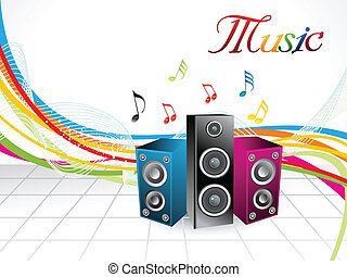 abstract colorful musical