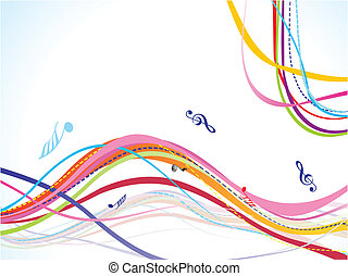 abstract colorful musical wave