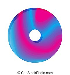 Abstract colorful number Zero. Vector illustration. Creative...