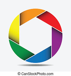 Abstract Colorful Octagon Background, design element10
