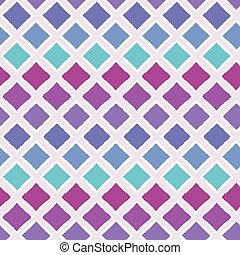 Abstract colorful ombre geometric seamless vector pattern background with brush stroked diamond shapes for fabric, wallpaper, scrapbooking projects or backgrounds.