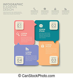 abstract colorful option infographics - modern vector...