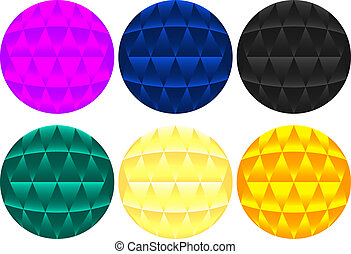 Abstract Colorful Orbs