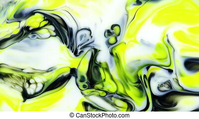 Abstract Colorful Paint Ink Liquid