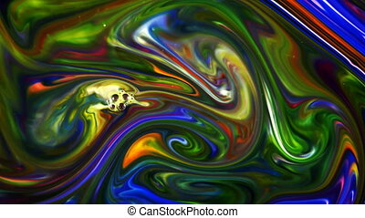 Abstract Colorful Paint Liquid Artistic Movement