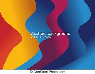 Abstract colorful paper cut slime background