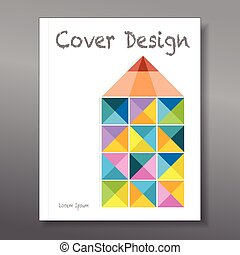 Abstract colorful pencil. Cover design template layout for annual report, brochure, flyer, vector illustration
