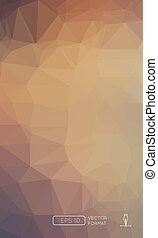 Abstract Colorful Polygonal