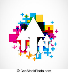 abstract colorful positive arrows