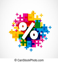 Abstract Colorful Positive Percent