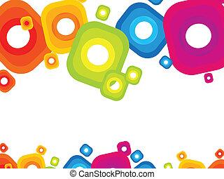 abstract  colorful rainbow circle